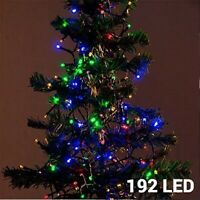 192 Multi Coloured Led Christmas String Lights Indoor Outdoor Battery Operated