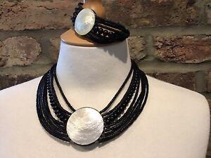 Culture Mix Handmade Fairtrade Jewellery Shell and Bead Necklace/Bracelet Set