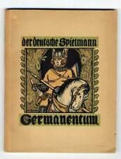Der deutsche Spielmann Lied und Dichtung Germanen illustriert von Hans Röhm