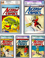ACTION COMICS #12345 CGC/PGX *COLLECTION OF A LIFETIME* #1 SIG JERRY SIEGEL 1938