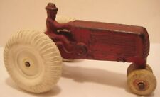 "Classic Antique Cast Iron Toy Farm Tractor 5"" Arcade Oliver 1930 new rear wheels"