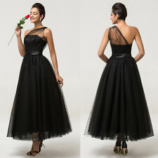 Vintage Sleeveless Maxi Evening Prom Party Masquerade Black Ball Gown Dress Hot