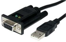 1-Port USB to Null Modem RS232 DB9 Serial DCE Adapter Cable with FTDI 1m