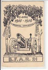 AK 1WW, 1WK, Feldpostkarte Bay. Feld-Art. Rgt. 21, gel. 1916