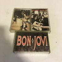 Bon Jovi cassette lot very nice!! Pretty Good Condition!!