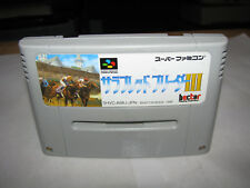 Thoroughbred Breeder III 3 Super Famicom SFC Japan import
