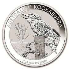 2016 Australia 10 oz Silver Kookaburra BU - SKU #92654