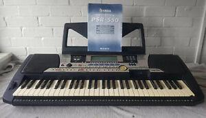 Yamaha PSR 550 Keyboard & Operation Manual & Stand - Fully Tested - See Images