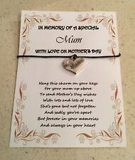 MOTHER'S DAY MUMMY MUM MEMORIAL LOVING MEMORY MOTHER KEY WISH KEYS CHARM CARD
