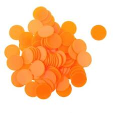 100Pcs Plastic Poker Chips Bingo Board Games Markers Tokens Toy Gift Orange