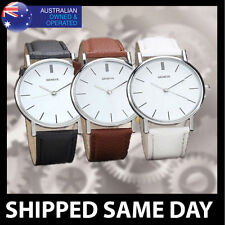 Faux Leather Band Women's 30 m (3 ATM) Watches