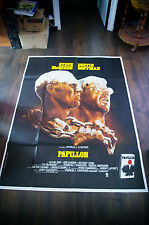 PAPILLON Steeve Mcqueen 4x6 ft Vintage French Grande Movie Poster Original 1973