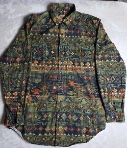 The Territory Ahead Men's Button Up Shirt Size MT Aztec Geometric Design