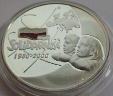 2000 Poland Polen 10 zl Silver The 20th Ann of forming Solidarity Trade Union