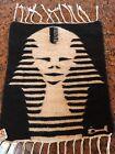 ALSADEK Egypt handwoven REVERSIBLE rug tapestry wall decor Pharaoh King Tut wool