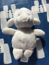 M&S Small Baby White Lamb Sheep Soft Toy Rattle