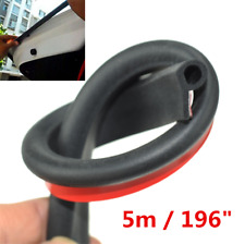 New b Shaped Weatherstrip Auto Door Edge Rubber Seal Strip Wind Rain Proofing 5m