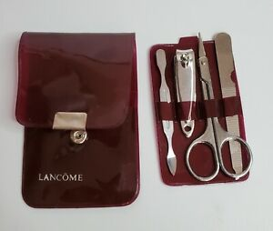 Lancome 4 pc TRAVEL Pedicure Care Set w/ Lancome POUCH