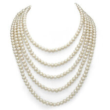 Pearl Necklace 6-7mm White Freshwater Cultured High Luster Endless 100''