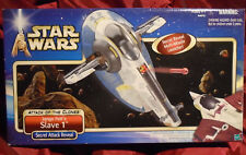 2001 STAR WARS Jango Fett's SLAVE 1 Bounty Hunter Assault Ship SEALED NEW MISB