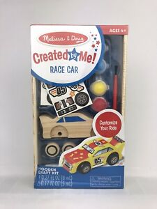 Melissa and Doug Created By Me! Race Car Wooden Craft Kit Ages 4+