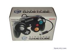 # ORIGINALE NINTENDO GAMECUBE control pad Nero in scatola originale-TOP #