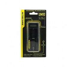 Nitecore UM10 Battery Charger 18650 18490 18350 17670 17500 16340 LCD Display