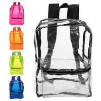 Transparent sac à dos adulte enfant étudiant sport voyage scolaire école G