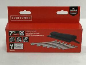 CRAFTSMAN 7-piece Standard (SAE) Combination Wrench Set in Pouch CMMT21086