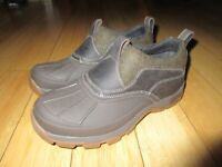 LL Bean Duck Shoes Women's 8 Arctic Grip Storm Chaser Leather Rubber Wool Tek