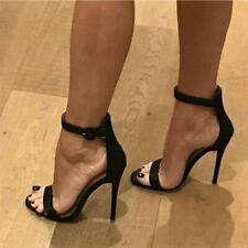 Sexy Women Stilettos Sandals Peep Toe Ankle Strap Party High Heel Shoes Pumps UK
