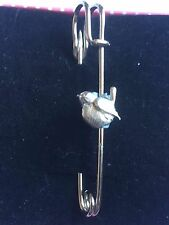 """Birds Tg213 Pewter Scarf and Kilt Pin Pewter 3"""" 7.5 cm"""