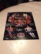 Jean Beliveau Signed Auto 16x20 Photo Collage Montreal Canadiens w/ Coa