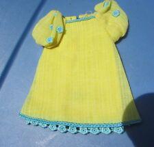 Vintage Barbie Francie Doll Yellow Bit #1232 Dress Gorgeous Mattel 1969