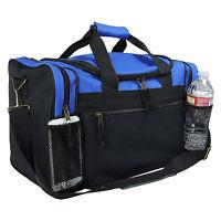 "17"" Men/Women Travel  Duffle Duffel Gym Sports Bag, Multi-Usage Blue/Black"