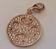 Thomas Sabo Rose Gold on Silver Cubic Zirconia Charm BNIB rrp £98