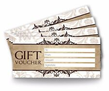 12 x Blank Gift Vouchers, Certificates For Personal Use DL  Size, High Quality