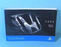 05 2005 Honda Civic Hybrid owners manual