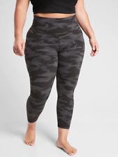 ATHLETA Elation Camo 7/8 Tight Leggings PLUS 2X in Black   SOFT Yoga Workout NEW