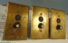 VINTAGE 1903 PERKINS YANKEE LIGHT SWITCHES (3) ORIGINAL PUSH BUTTON PORCELAIN