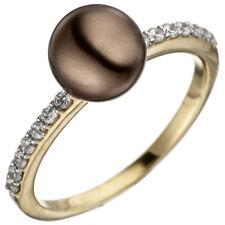 Künstliche Echtschmuck-Ringe aus Gelbgold