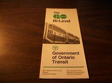 GO TRANSIT GOVERNMENT OF ONTARIO BI LEVEL BROCHURE