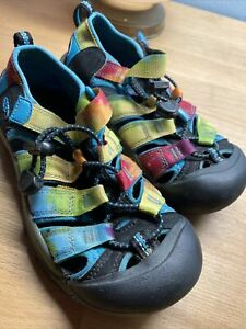 Keen Newport H2 Rainbow Tie Dye Waterproof Sport Sandals Youth Size 1