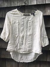 XXI Embellished Women's Top Boho Tunic Peasant Loose Shirt Stretch Blouse S