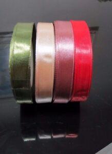 single side 15mm Width Satin Ribbon 4 colors  Crafts, Card-making, Wedding