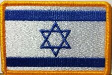 Israel David Jew   Flag Embroidered Iron-On Patch Military Emblem Gold Border