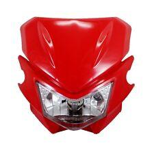 Red Motorcycle Universal Headlight Fairing kit for Honda CR80R CR125R CRF230F