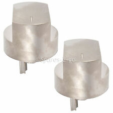 2 x Silver Switch Knob for STOVES 44445572 61DFDO 61GDO Hob Oven Cooker Knobs