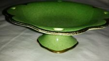 Royal Winton Grimswade Compote Dish Green Gold Trim