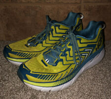 Hoka Yellow And Blue Athletic Running Shoes Mens Size 9